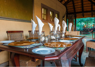 Shikwari Nature Reserve - Dinner Table